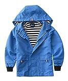 ハイハート)Hiheart 子供 ウインドブレーカー 薄手 キッズ パーカー 子供服 男の子 ジャケット アウター レインコート フード付き ブルー 100cm