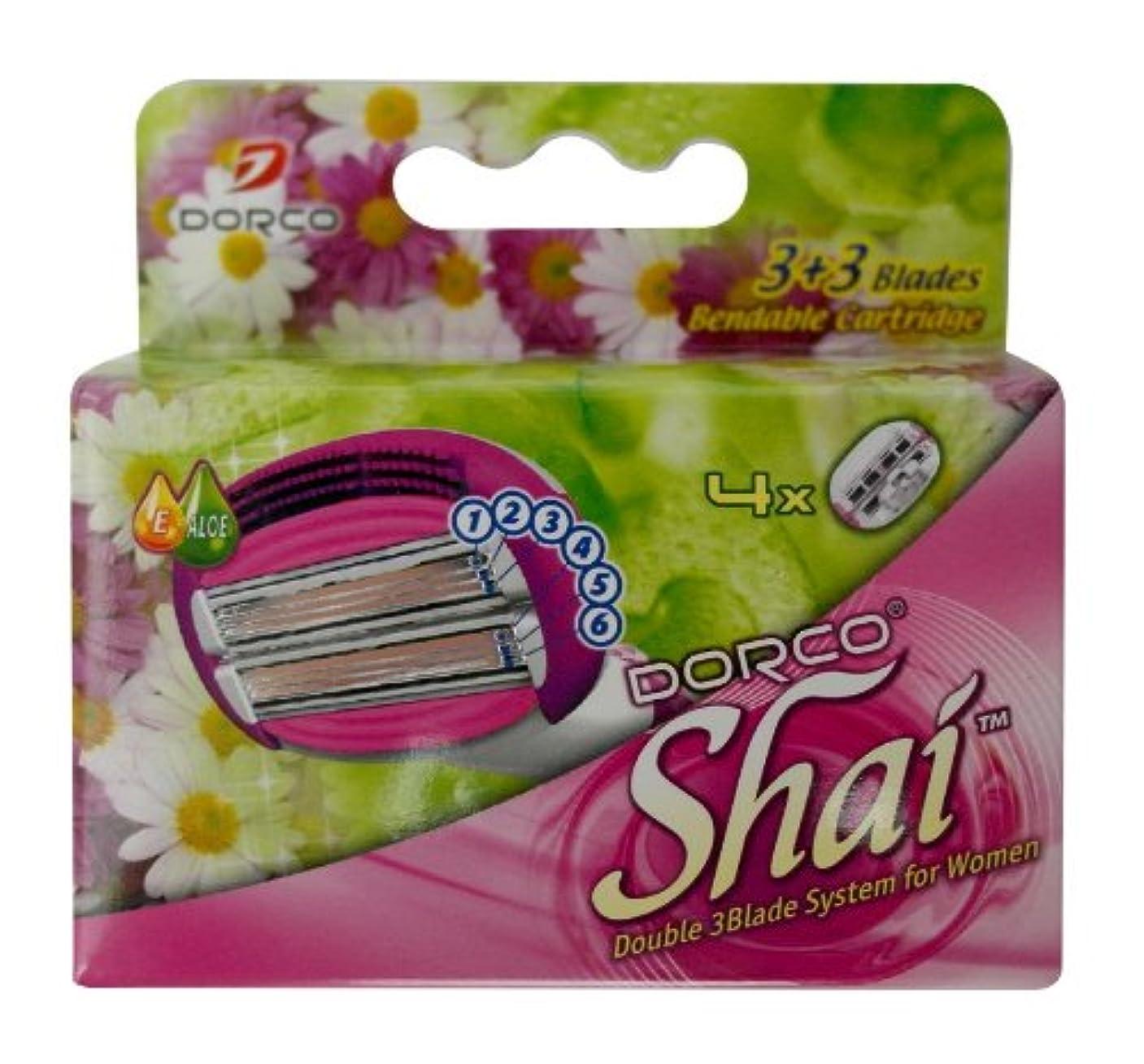 インシデント発信ブレーキDORCO ドルコ Shai3+3 女性用替刃式 カミソリ3+3枚刃 替え刃