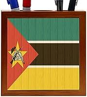 Rikki Knight Mozambique Flag on Distressed Wood Design 5-Inch Wooden Tile Pen Holder (RK-PH8754) [並行輸入品]