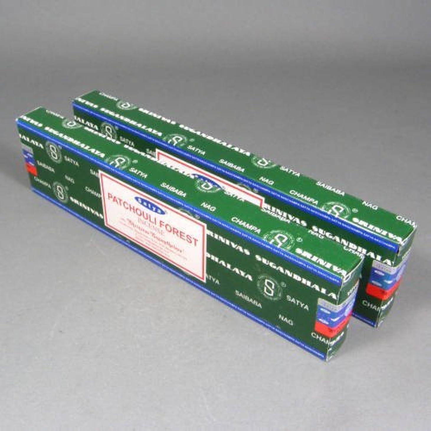 失う吸い込むプレビューSatya Patchouliフォレスト香スティック、2 x 40グラムボックス、80グラム、合計( in212 )