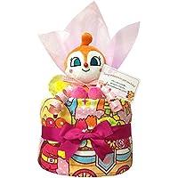 出産祝いにドキンちゃんのおむつケーキ 女の子/赤ちゃん/内祝い/誕生日プレゼント/ギフトセット/ダイパーケーキ (パンパースS12 (出産祝い用に))