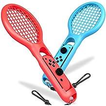 マリオテニス エース 対応 周辺機器 テニスゲームラケット BEBONCOOL Nintendo Switch Joy-Con 用 テニスラケット 2個同梱(青と赤) 臨場感アップ 人体工学の設計 快適な使用感