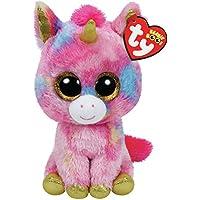 Ty タイ Beanie Boo's ビーニーブーズ Mサイズ  ファンタジア (ユニコーン マルチ) 【ぬいぐるみ】 36158