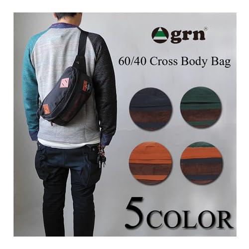 (ジーアールエヌ) GRN 60/40 クロス ショルダー バッグ ウエストバッグ BAG 鞄 メンズ レディース ユニセックス 男女兼用 ワンサイズ ORANGE