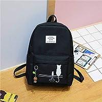 School Backpack Female Fashion Junior High School Backpack Cat Print School Bags for Girls Backpack Teenagers Schoolbag Mochila Women Rucksack (Color : C, Size : -)