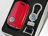 送料無料 VW ゴルフ7 ポロ キーケース キーカバー レッド