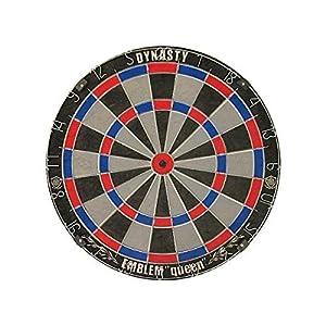 店長はダーツバーも経営しているんですが、上手くなりたいお客さんには、ハードボードで家での練習を推奨しています。  ただ、店のソフトダーツ・マシーンと全く同じって訳にはいかない。 ボードの大きさが違う ボードの色が違う ダーツの重さやバランスが変わる 等  お客様によっては、ハードダーツボードの購入を躊躇される方も。  DYNASTY EMBLEM Queenは、ソフトダーツボードと同じ15.5インチ! しかも盤面の色がソフトダーツボードに合わせて選べる3色。 非常に嬉しいですね♪  こちらは、D...