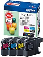 【brother純正】インクカートリッジ4色パック LC211-4PK 対応型番:DCP-J968N、DCP-J767N、DCP-J567N、MFC-J887N、MFC-J737DN 他