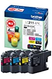 「【brother純正】インクカートリッジ4色パック LC211-4PK 対応型番:DCP-J968N、DCP-J767N、DCP-J567N、MFC-J887N、MFC-J737DN 他」のサムネイル画像
