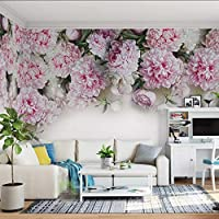 Xueshao カスタム壁画壁紙用壁3Dヨーロッパスタイルロマンチックな牡丹の花リビングルームのソファテレビの背景の壁紙論文家の装飾-350X250Cm