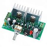 ツイン モノラル パワーアンプ 組み立てキット DIY ローノイズ Dual-Channel TDA2030A 2.0 AC/DC Power Amplifier Board for Arduino DIY