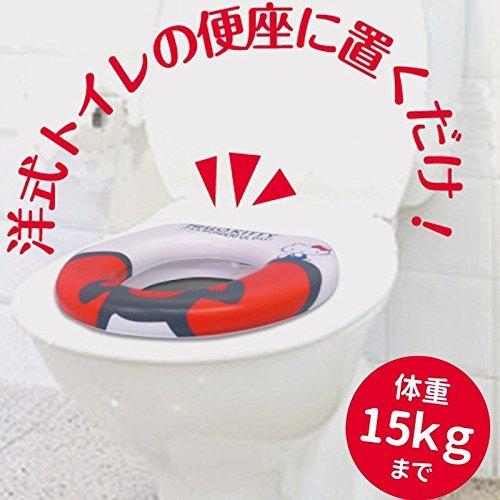 ハローキティ 補助便座 ベビートイレ ソフトシート キティ流せるポケットティッシュセット 汚れ も 簡単 に 拭き取れて お掃除 も カンタン♪ソフトなすわり心地で すくすく育ち盛りの 成長に合わせた お子様 の トイレトレーニング