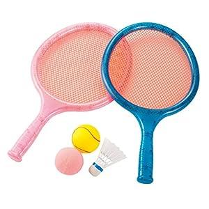 Kaiser(カイザー) スプリング ラケット セット KW-679 テニス バドミントン レジャー ファミリースポーツ