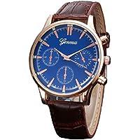 Lookatool New Mens Retro Design Leather Band Analog Alloy Quartz Wrist Watch