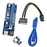 PCI-E 1x-16x エクステンダーライザーカードアダプタ (ビットコイン採掘)+USB 3.0延長ケーブル 1個