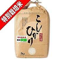 【精白米】 30年産 100% 熊本県産 特別栽培米 阿蘇 コシヒカリ 5kg 精米