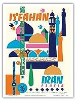 """イスファハン、イラン–Persia–ヴィンテージ世界旅行ポスターby Houshang kazemic。1967–マスターアートプリント 9"""" x 12"""" PRTA4810"""