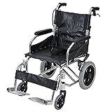 車椅子 アルミ合金製 黒 約10kg 背折れ 軽量 折り畳み 介助用 介助ブレーキ付き 携帯バッグ付き ノーパンクタイヤ 折りたたみ コンパクト 軽い 背折れ式 介助用 介助 車椅子 車イス 車いす ブラック wheelchairb63bk