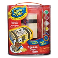 Works Of Ahhh... Wood Paint Kit-Treasure Chest Bank