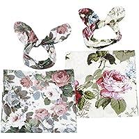 Baoblaze ベビー服 ベビー小物 ベビーおくるみ ユニセックス 花柄 ソフト コットン製 2個セット 0-3ヶ月
