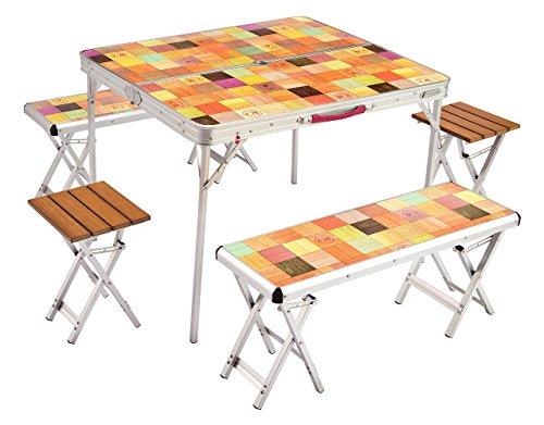 コールマン テーブル ナチュラルモザイクファミリーリビングセットプラス