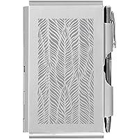 Flip Note (フリップノート) Wellspring ペン付ダブルフリップノート+付箋ノート、シルバーフェザー FN-2383