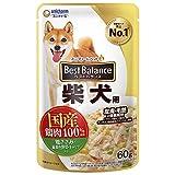 ベストバランス ドッグフード パウチ 鶏ささみ・緑黄色野菜・キャベツ入り 柴犬用 60g