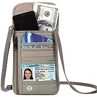 Defway パスポートケース 首下げ スキミング防止 パスポート ポーチ 海外旅行グッズ 航空券 携帯 貴重品入れ トラベルポーチ セキュリティネックポーチ スマホケース