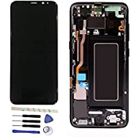LCD Display Touch Screen Digitizer Assembly With Frame For Galaxy S8 5.8 inch/S8 edge G950F G950FD G950W G9500 G950A G950P G950T G950U G950V black [並行輸入品]