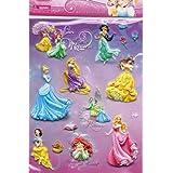 Disney Princess(ディズニープリンセス)Raised sticker sheet(立体シール)【並行輸入品】