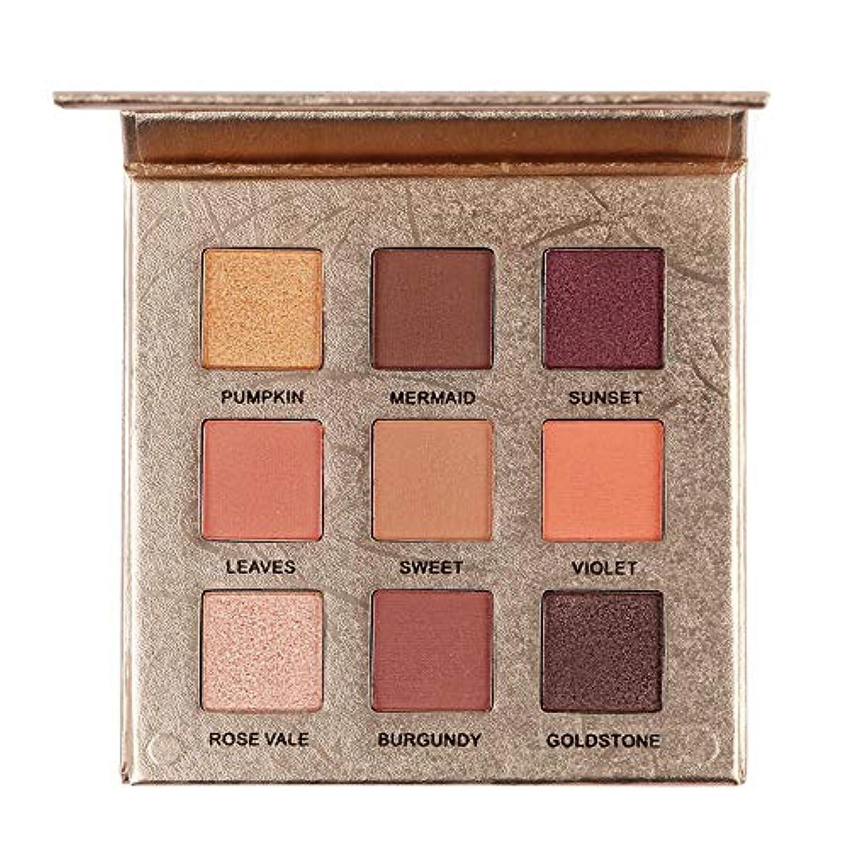 上向き保証アデレード9色のきらめきのきらめきのアイシャドウの粉のマットのアイシャドウの化粧品の構造