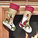 Valery Madelyn クリスマスソックス ブーツクリスマスツリー飾り靴下 プレゼント ギフト サンタクローストナカイ 子供 キャンディ入れ 可愛い