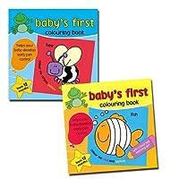最初Colouring赤ちゃんの最初ColouringブックBuy 1Get 1Free Helps開発Earlyペンコントロール