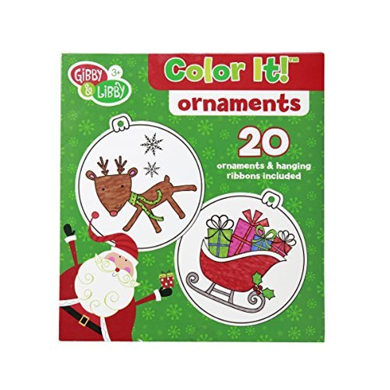 C.R. Gibson Gibby & Libby Color It! DIY Christmas Ornaments Kit [並行輸入品]
