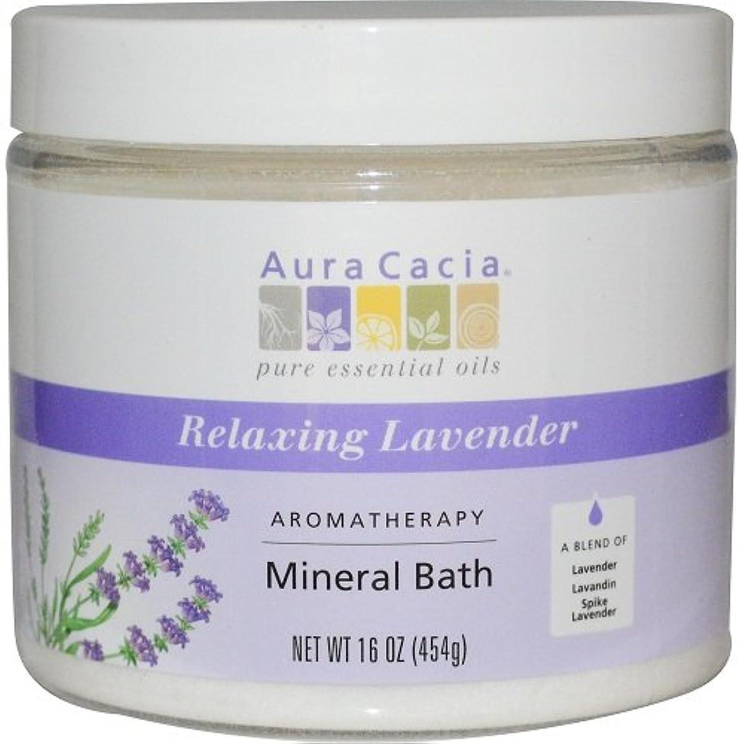 お肉狂乱ペルメルAura Cacia - Aromatherapy Mineral Bath, Relaxing Lavender - 16 oz (454 g)
