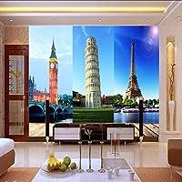 Lixiaoer カスタム壁画ヨーロッパとアメリカの建築風景の背景の壁リビングルームの壁紙壁画-150X120Cm