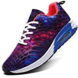 [WEIDANSIER] ランニングシューズ スニーカー レディース メンズ ジョギングシューズ 運動靴 ウォーキングシューズ カジュアルシューズ スポーツシューズ 防滑 レースアップ ウィメンズ スポーツスニーカー カジュアル 紫 24.5cm
