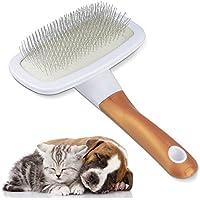 スリッカーブラシ ペット用ブラシ 犬 猫 抜け毛除去用品 毛取りコーム ペットマッサージくし 360°回転可能 中型 小型 長毛・短毛兼用 Welltop