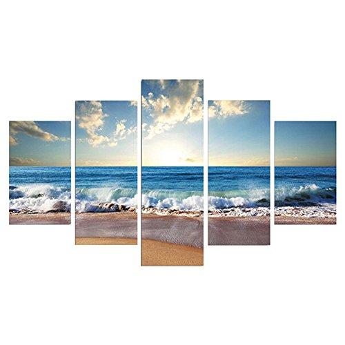 RoomClip商品情報 - casu alcatch HD 海の波 アートポスター 飾り絵 モダン-アートパネル 絵画 インテリア 現代壁の絵 壁掛け 部屋飾り 背景絵画 壁アート 装飾 軽くて取り付けやすい