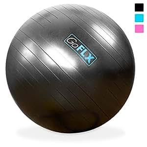 GoFLX バランスボール ポンプ付 - 最大200kgまで対応エクササイズボール