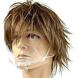 フェイスシールドマスク 透明マスク 透明 業務用 飲食用 フェイスシールド マウスシールド フェイスガード マスクシール…
