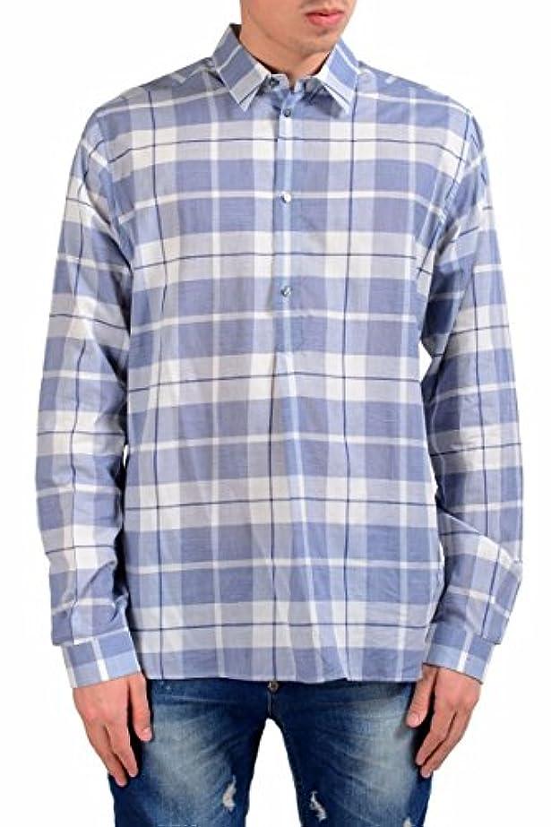 一人で肺老人Dolce & Gabbana メンズ 1/二ボタンチェック柄ドレスシャツのサイズ US 15.75 IT 40 マルチカラー