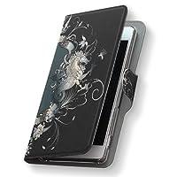 Xperia Z5 エクスペリア SO-01H ケース 手帳型 スマコレ レザー 手帳タイプ 革 フリップ ダイアリー 二つ折り 横開き 革 SO01H ケース スマホケース スマホカバー ユニーク 000007 Sony ソニー docomo ドコモ 馬 黒 エンブレム so01h-000007-nb