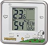 リズム時計 PEANUTS キャラクター 温湿度計 スヌーピー T203 シルバーメタリック色 8RD203-M19