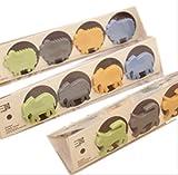 コンセントキャップ 赤ちゃん コンセントカバー セーフティ ペット 感電 いたずら ホコリ 防止 (8個セット(ゾウさん、ねこちゃん))