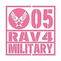 ミリタリー RAV4 ラヴフォー カッティング ステッカー ピンク 桃