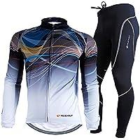新デザイン導入 長袖 裏起毛 選択可 サイクルウェア 上下セット 反射素材 NUCKILY