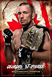 UFC Georges St Pierre Championカナダスポーツポスター24 x 36