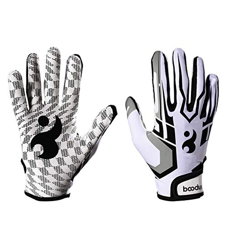 十二公園感謝しているトレーニング グローブ 手袋 快適な通気性シリコーン滑り止め野球グローブ野球グローブスポーツグローブ ウエイトトレーニングジム (色 : 白, サイズ : S)
