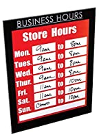NuDell 37085BH Magnetic Business Hours Sign Holder 8.5 x 11 Black [並行輸入品]